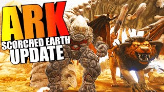 ARK Scorched Earth - MANTICORE, DEATH WORM, WYVERN, GOLEMS, ALL NEW CREATURES - ARK Survival Evolved