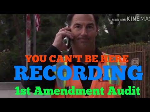 "1st amendment audit/ Huntington Beach/ city maintenance yard/""YOU CAN'T FILM HERE""w/HDCW"