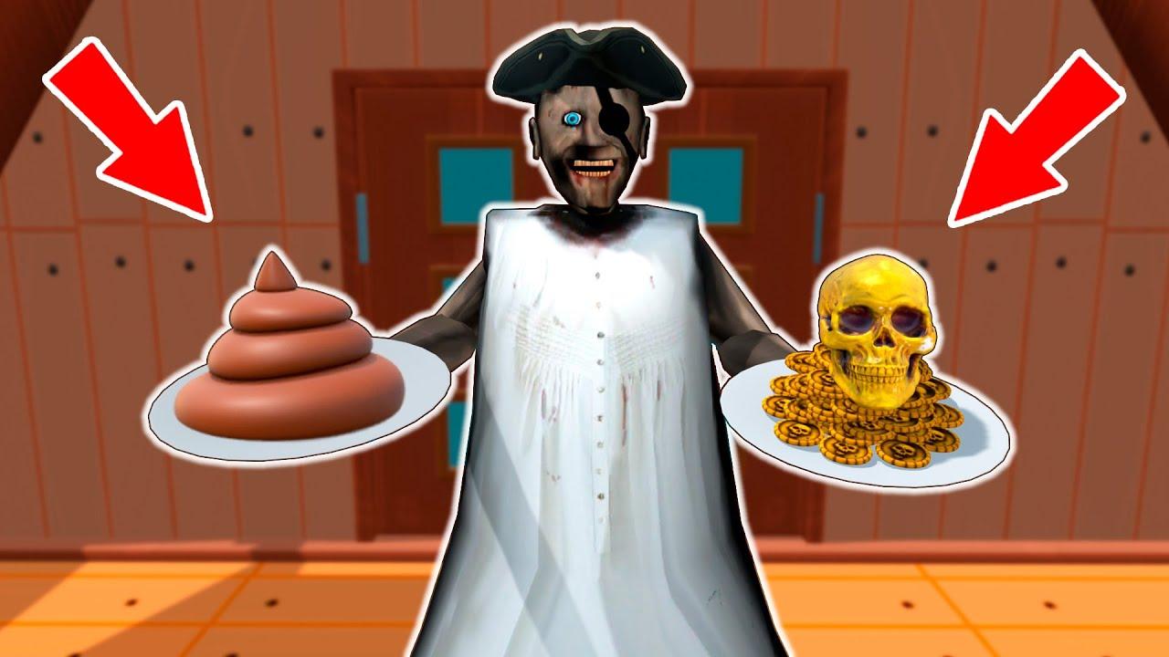 Granny vs Pirates vs Gold vs poop - funny horror animation parody (p.114)