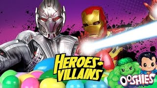 Superhero Surprise Eggs Game w/ Avengers Toys & Batman Ooshies Heroes & Villains | KIDCITY