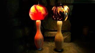 Bowling Ball and Pin Lamp
