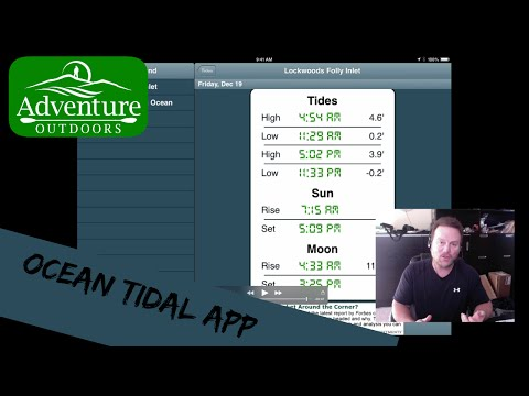 How To Determine Your Local Tides ~ Ocean Tidal App ~ Good For Fishing