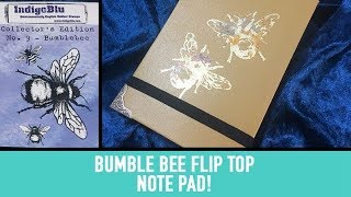 Bumble Bee Themed Flip Top Note Pad for IndigoBlu