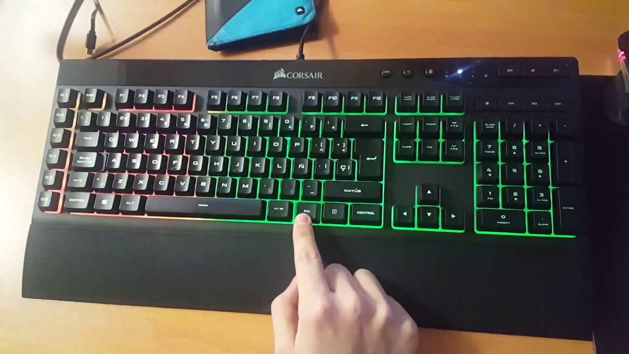 Corsair K55 RGB lightning test