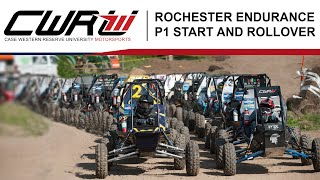 Baja SAE Rochester 2019: Endurance P1 Start and Rollover