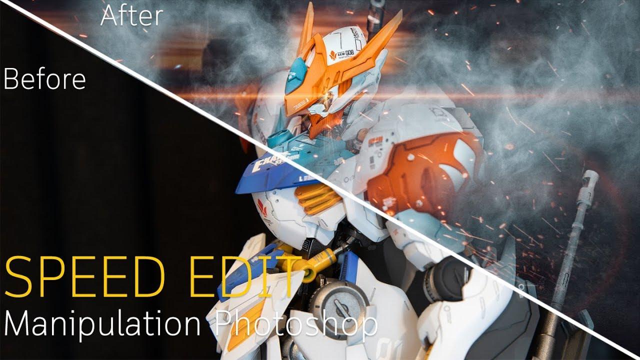 Speed Edit Manipulation Photoshop Tutorial Gundam Photoshop Tutorial