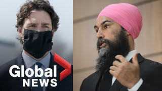 Coronavirus outbreak: Trudeau pushes for paid sick leave in deal for NDP's support in Parliament