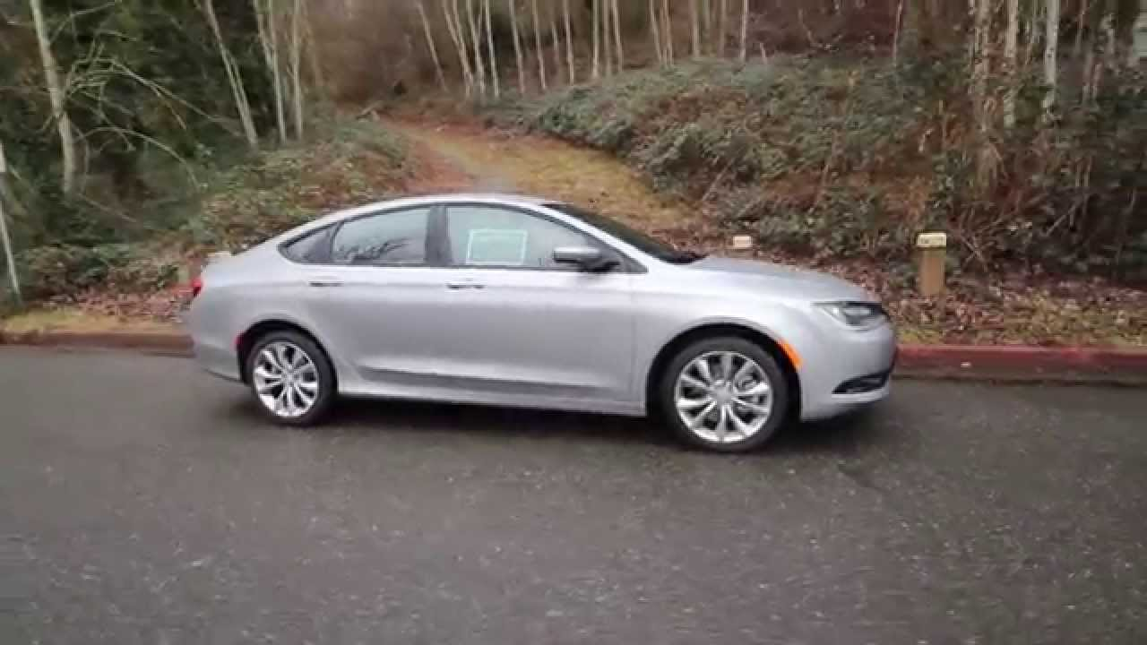 Chrysler 200 Sedan >> 2015 Chrysler 200 S | Silver | FN615787 | Redmond | Seattle - YouTube