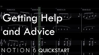 Notion 6 QuickStart 8: Getting Help and Advice
