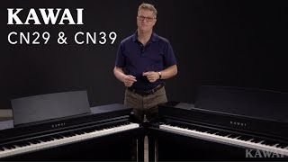 Kawai CN29 & CN39 Digital Pianos - Bluetooth®, OLED Display, Virtual Technician, RH III Action