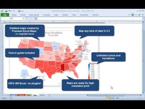 How To Create A Data Map In Excel Step Excel Mapping Tutorial - Create us map in excel