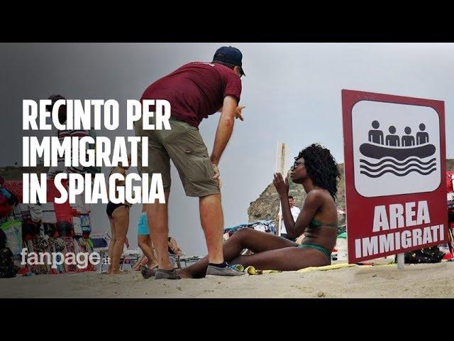 Un recinto in spiaggia per soli migranti, le reazioni dei bagnanti [Esperimento sociale]