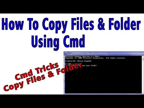 How To Copy Files & Folder Using Cmd In Hindi