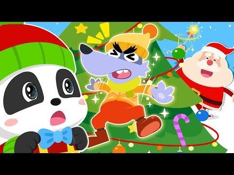 Big Bad Wolf's Trapped on Christmas Tree | Christmas Songs | Kids Songs | Baby Cartoon | BabyBus thumbnail