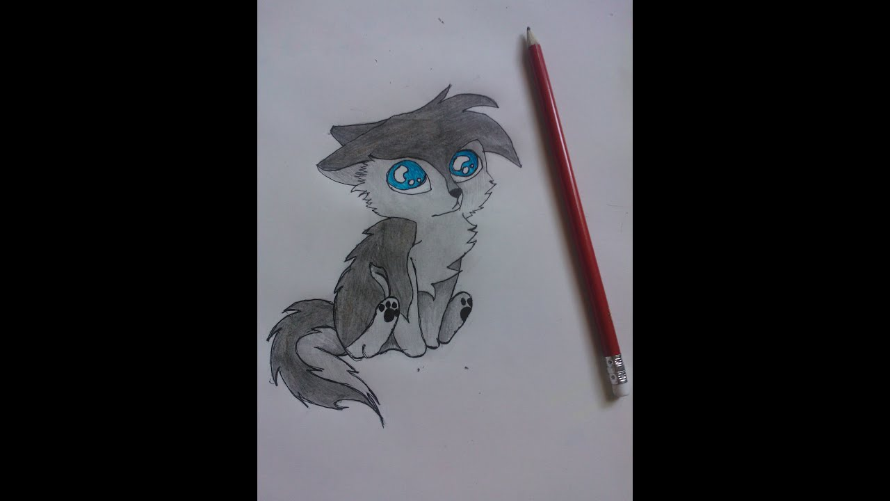 Dessin dessiner un loup chibi youtube - Dessin de loup simple ...