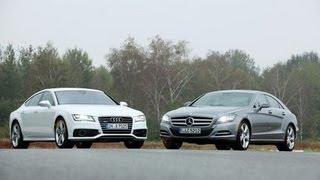 Mercedes CLS gegen AUDI A7 - Kampf der viertürigen-Coupés