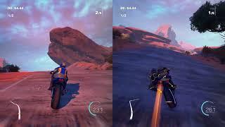Moto Racer 4 split screen gameplay