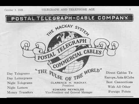 """Episode 1 - """"Postal Telegraph Company"""" - (Chapter 1)"""