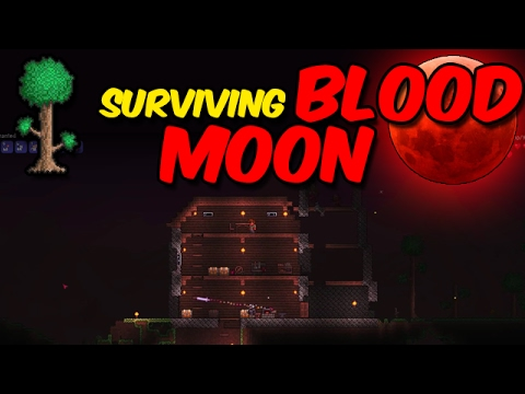 TERRARIA: Surviving my first BLOOD MOON & House Improvements! [Ep.11]