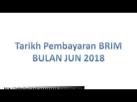 Tarikh Pembayaran brim BULAN JUN 2018