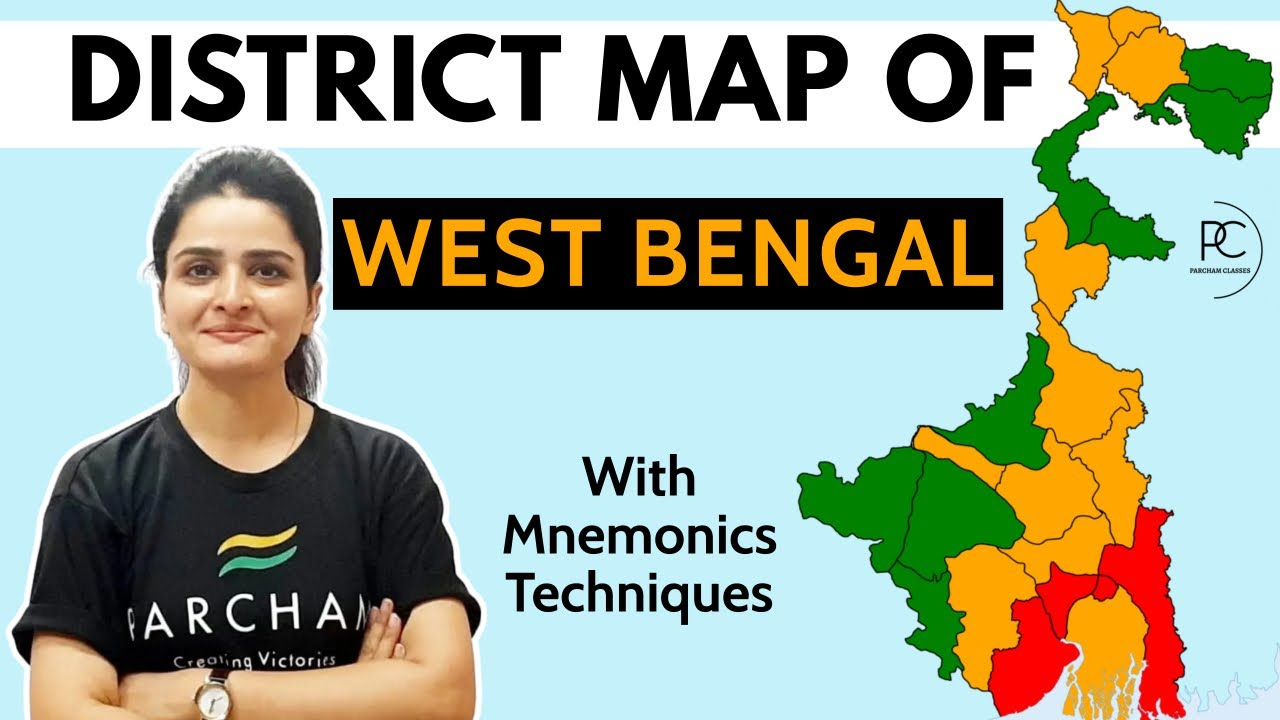 Download West Bengal Map 2021   23 Districts & 5 Divisions   Memory Techniques by Ma'am Richa