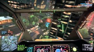 Battlfield 4 Helicopter flying on Dawnbreaker Obliberation [PS4] [720p]