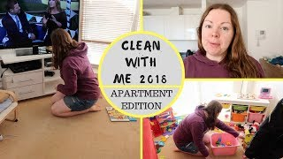 CLEAN WITH ME 2018 || MORNING ROUTINE || APARTMENT SPEED CLEANING