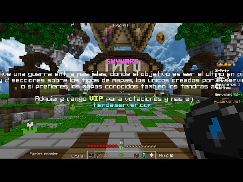 SERVIDOR CONFIGURADO SKYWARS + 10 MAPAS, COSMETICS, KIS, GADGETS ETC, | (1.8 - 1.12) // Sellyng 2$ from YouTube · Duration:  2 minutes 41 seconds