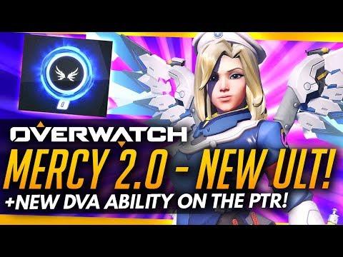 Overwatch   MERCY 2.0 GAMEPLAY + NEW DVA ABILITY [PTR]