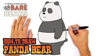 How to Draw Panda Bear | We Bare Bears