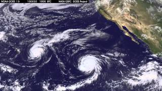 Satellite Movie Shows Two Hurricanes and a Depression