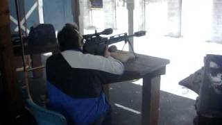Bushmaster BA50 Carbine Rifle Shooting .50 caliber