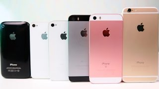 iPhone 6 vs. iPhone SE vs. iPhone 5S vs. iPhone 4S vs. iPhone 4 - Сравнение  iPhone
