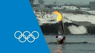 Repeat youtube video The Olympic Torch's Journey To Sochi 2014 | Faster Higher Stronger