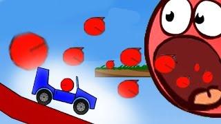Игра RED BALL про приключения красного шарика.Встреча красного шарика с топорами и пресами