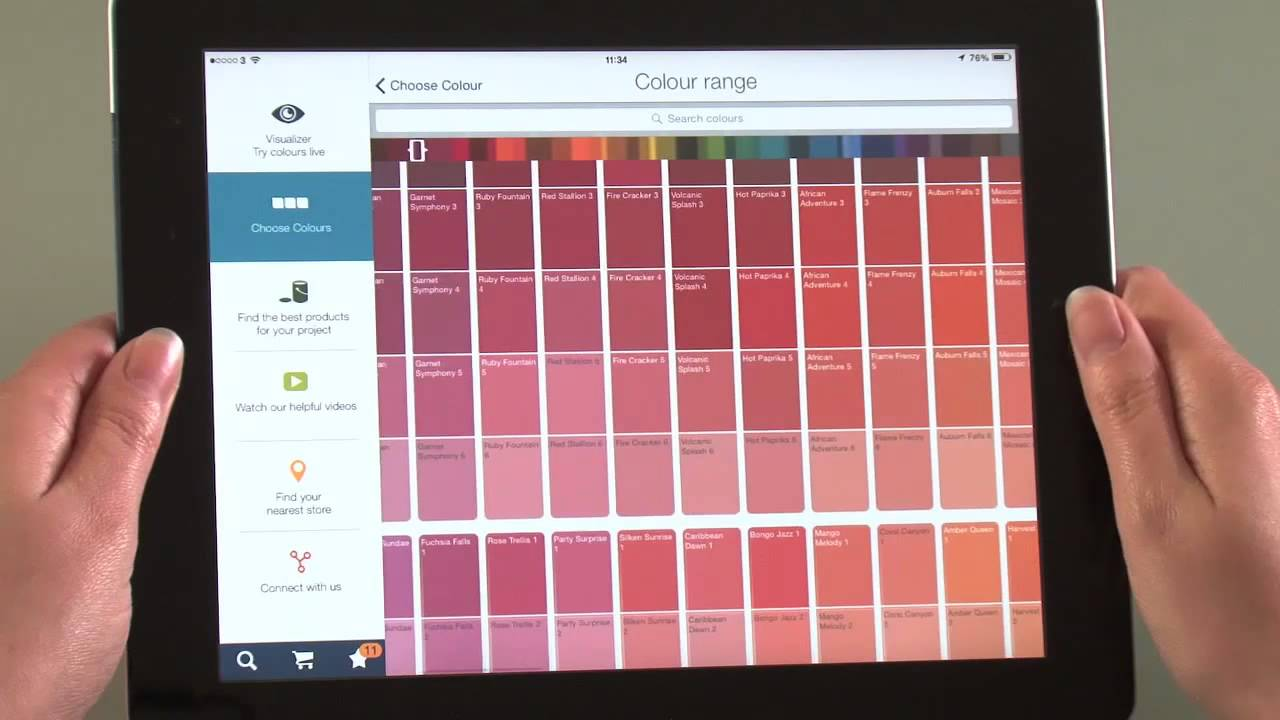 How to choose colours with the Dulux Visualizer app - YouTube