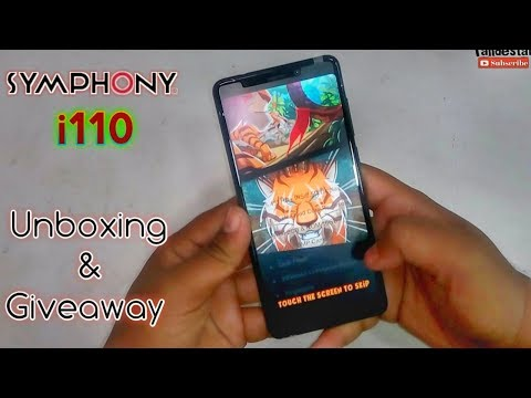 Symphony i110 Unboxing and Hand on full review | Giveaway