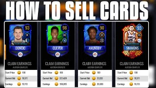 *PRICE LIST* HOW TO SELL YOUR CARDS IN NBA LIVE MOBILE 20!!!