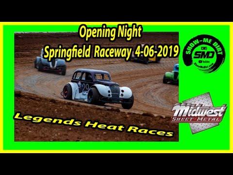 S03 E171 Legends Heat Races- Opening Night Springfield Raceway 4-06-2019 #DirtTrackRacing