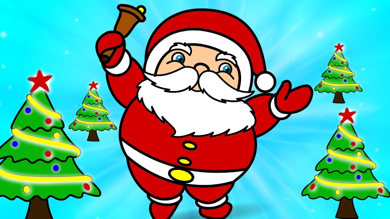 Santa Claus drawing for kids | Coloring Pages How to draw Very Easy ...