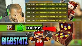 Giving Bigbst4tz2 100,000 Free Clan Medals! - Pixel Gun 3D