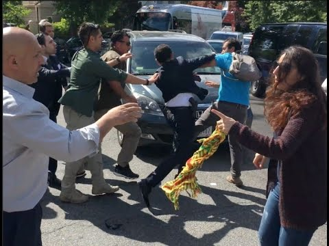 Demonstration at Turkish Embassy in DC Turns Violent