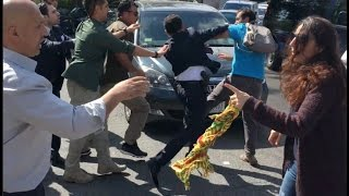 Demonstration at Turkish Embassy in DC Turns Violent