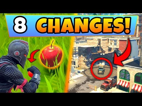 Fortnite Update: 8 SECRET CHANGES! - New APPLES Item, Tilted Towers Change (Battle Royale New Gun)