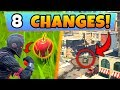 Fortnite Update  8 SECRET CHANGES    New APPLES Item  Tilted Towers Change  Battle Royale New Gun