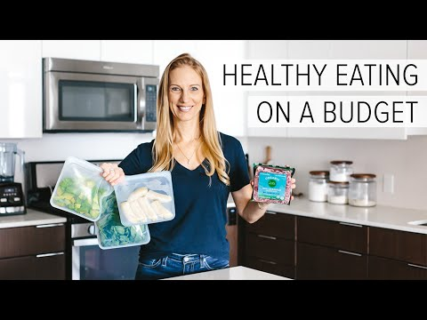 HEALTHY EATING ON A BUDGET | 10 grocery shopping tips to save money thumbnail