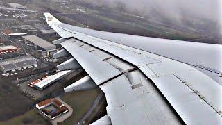 Etihad Airways Airbus A340-600 CLOUDY VORTEX TAKEOFF from Munich Airport   ✈