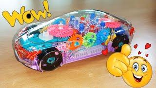 Concept Racing Educational Transparent Mechanical Gear | Music & Light Toys Car
