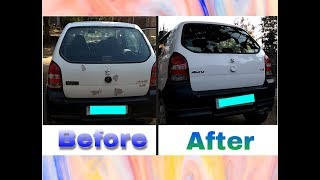 Maruti Alto LXI Boot Painting || Faded Colour repainting