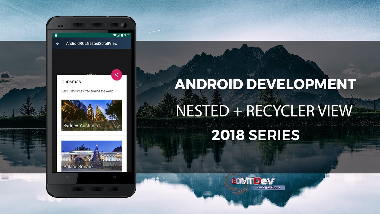 Android Studio Tutorial - Nested Scroll View with Recycler Scroll View